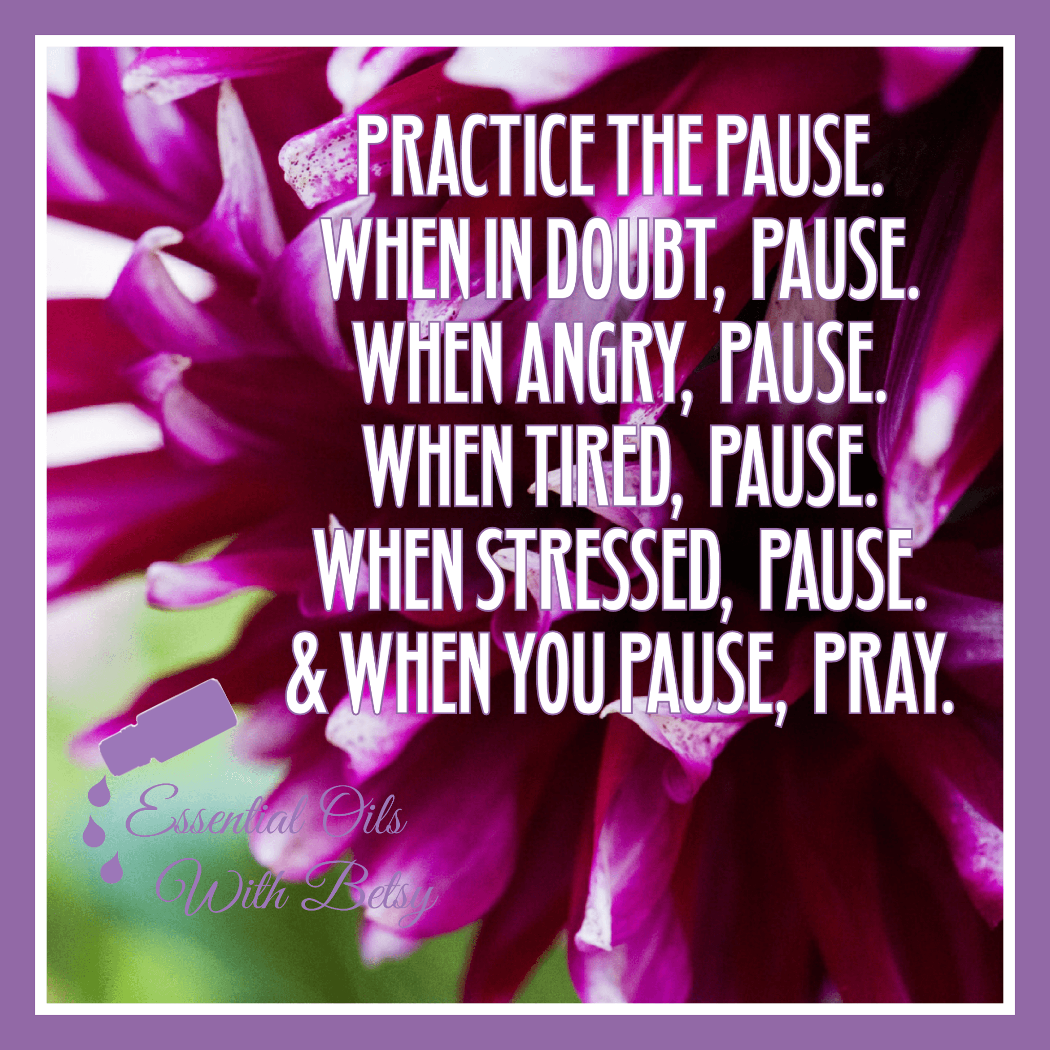 Practice the pause.
