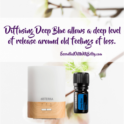 Diffusing Deep Blue allows a deep level of release around old feelings of loss. using essential oils for grief