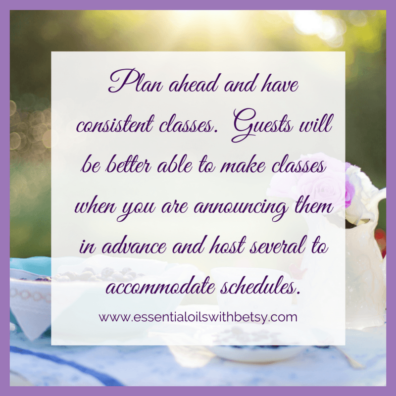 Plan ahead and have consistent classes. Guests will be better able to make classes when you are announcing them in advance and host several to accommodate schedules.