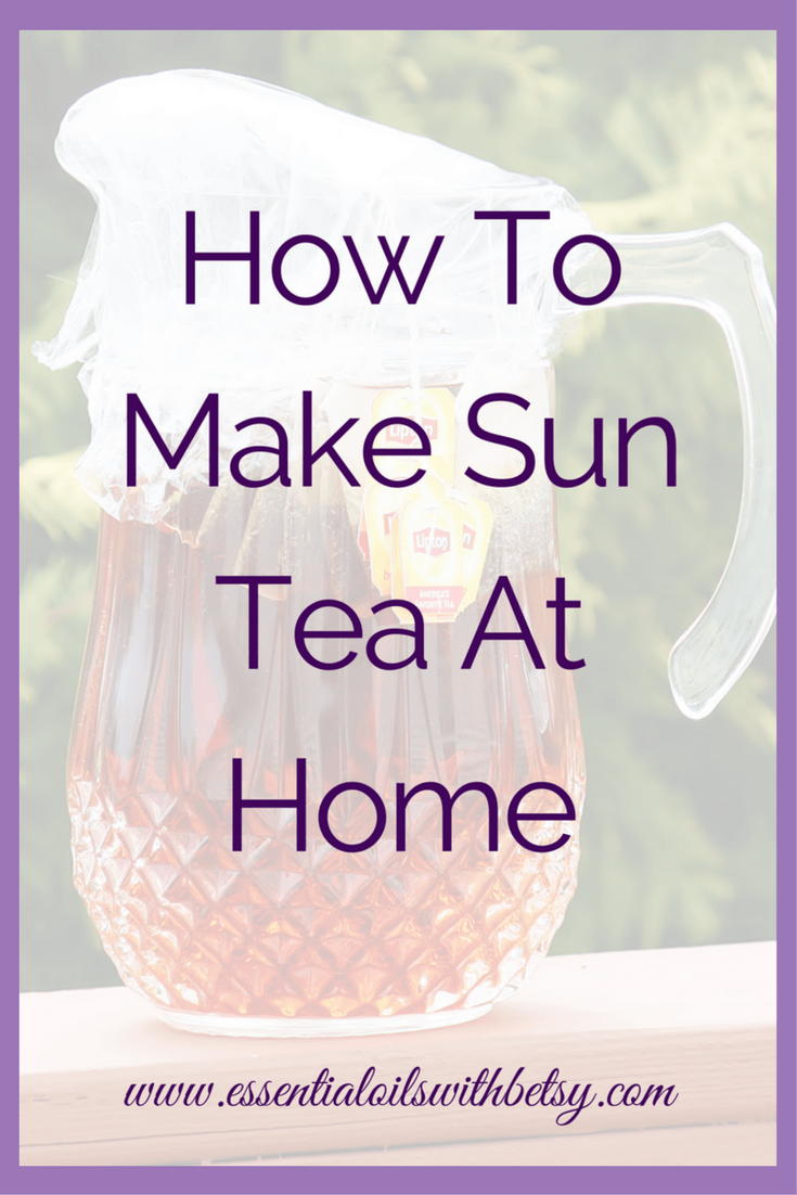 """How To Make Sun Tea At Home Have you ever heard of sweet sun tea? It's a delicious beverage on a hot summer day. Making this simple iced tea drink is easy. Learn how to make sun tea here! """"How To Make Sun Tea At Home"""" contains affiliate links. I may make a commission on affiliate links. However, I only work with affiliates whose products I know, use myself and trust. Sun Tea Recipe"""