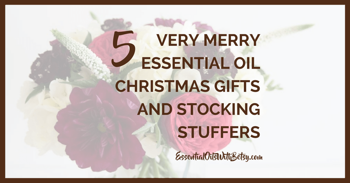 5 Very Merry Essential Oil Christmas Gifts and Stocking Stuffers Everyone seems to have a friend or family member that's difficult to shop for during the holidays. You spend hours every single year thinking of what to possibly get them. Have you considered an essential oil related gift? With Christmas right around the corner, you've got a great opportunity to help someone discover the joys of essential oils for the first time. Or, if they're already an essential oil user, you can help them get the most out of their collection with one of the great gift ideas we'll discuss below.