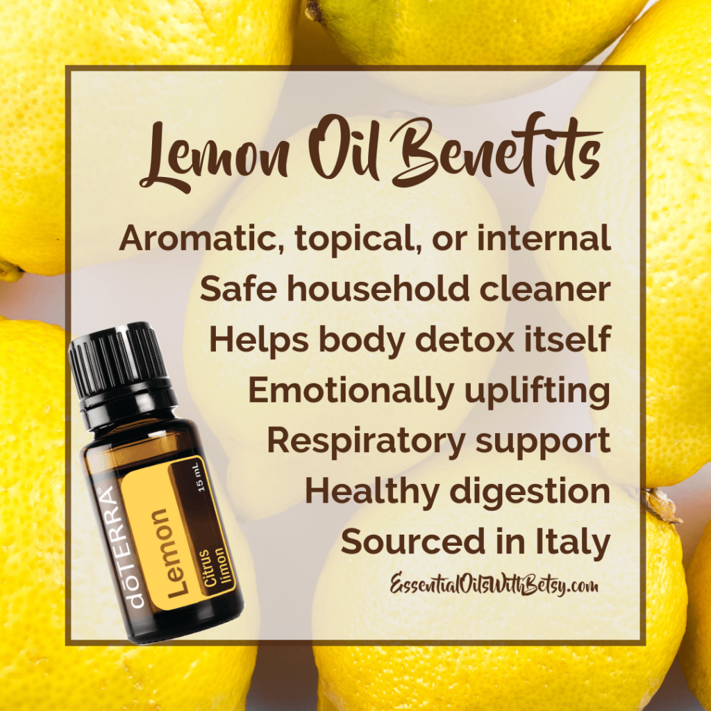 doTERRA Lemon essential oil benefits