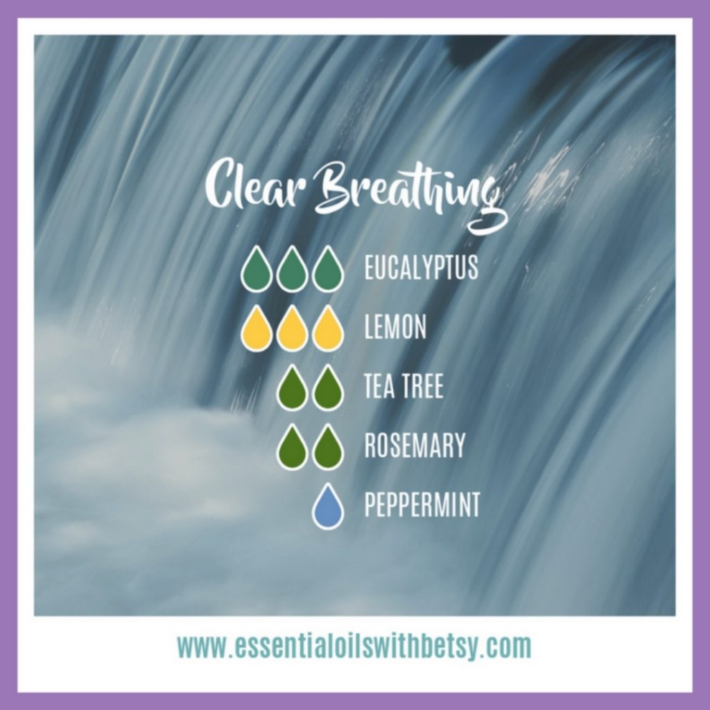 Clear Breathing Diffuser Blend with Eucalyptus, Lemon, doTERRA Tea Tree, Rosemary, and Peppermint