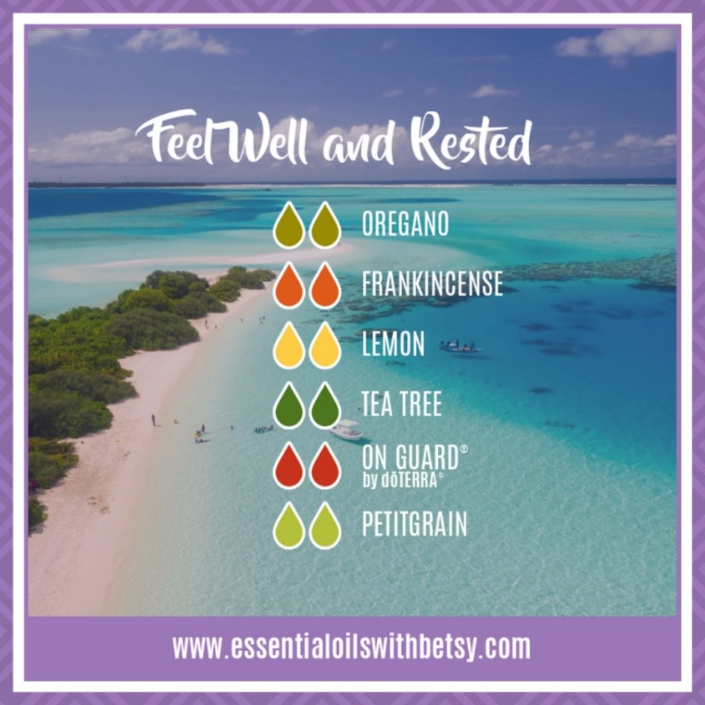 Feel Well & Rested Oil Blend with Oregano, Frankincense, Lemon, doTERRA Tea Tree, doTERRA On Guard, and Petitgrain essential oils