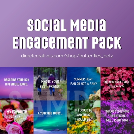 Social Media Engagement Graphics Pack - Social Media Toolbox For Direct Sellers