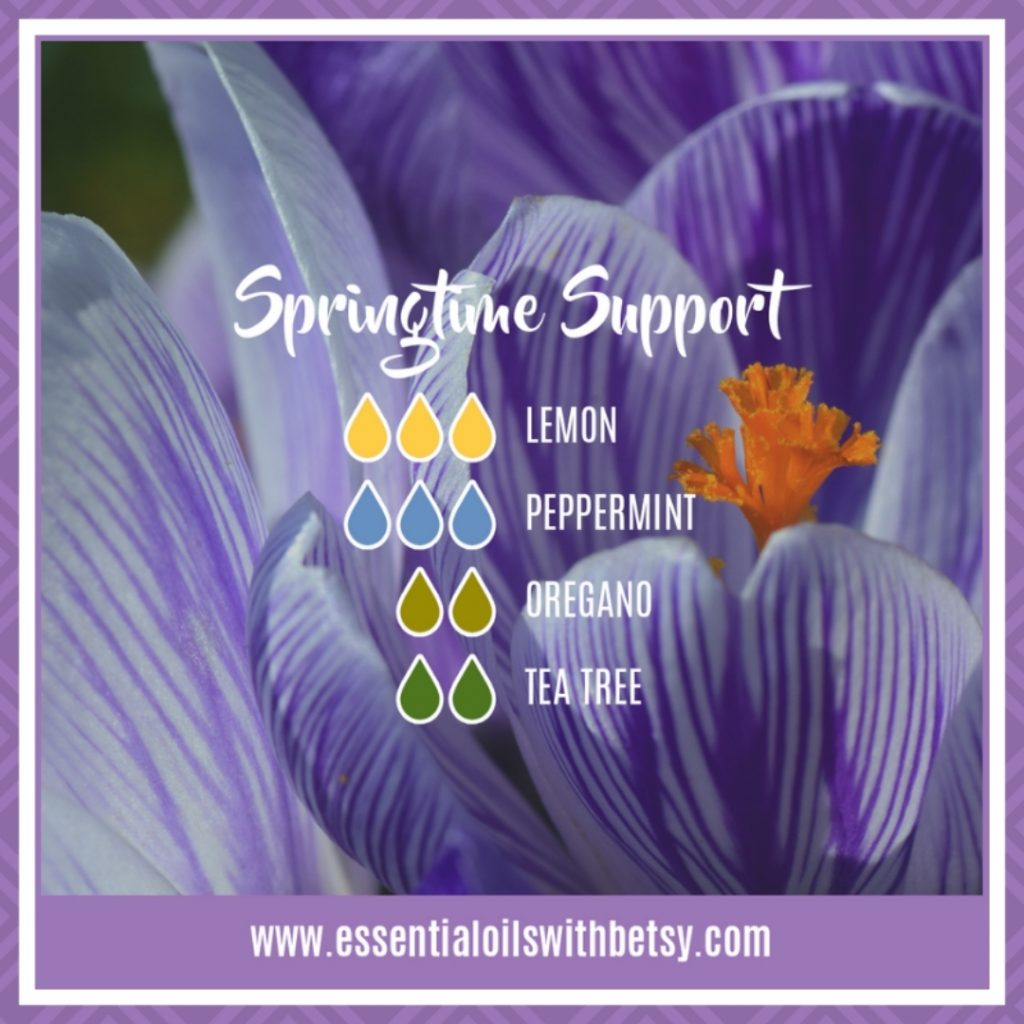 Springtime Support Diffuser Blend with Lemon, Peppermint, Oregano, and doTERRA Tea Tree